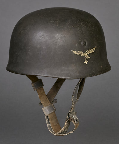 WWII German Luftwaffe Model 1938 Paratrooper Single Decal Helmet
