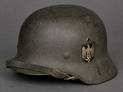 WWII German Army Model 1935 Single Decal Reissue Combat Helmet