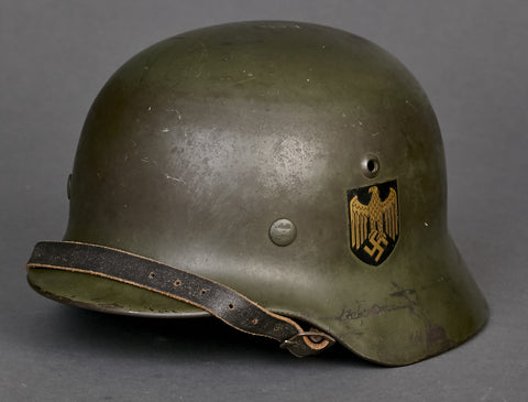 WWII German Kriegsmarine Model 1935 Double Decal Helmet