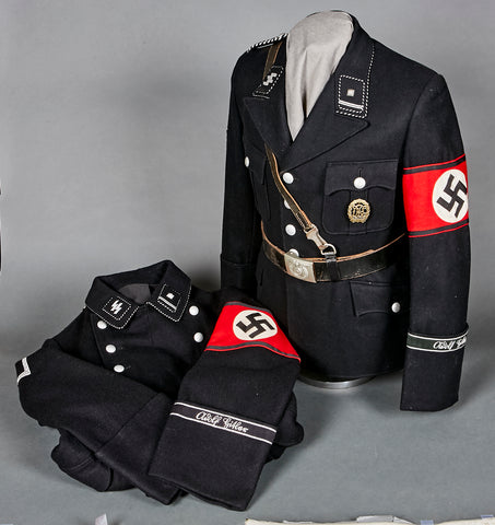 "SS-Leibstandarte ""Adolf Hitler"" NCO Mantel and Tunic, Named to Neuhaus, from the Prestigious Collection of Doug Buhler"