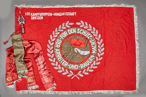 1970's vintage East German Labor Movement Kampfgruppe Flag