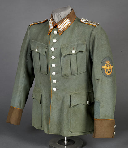 WWII German Rural Police NCO Service Tunic for Linz