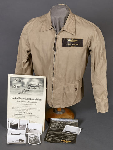 WWII US Navy Named and Documented M-421a Jacket Grouping