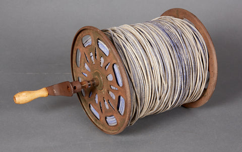 WWII German Wehrmacht Engineer Telephone Cable and Reel