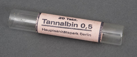 "WWII German Waffen SS Marked ""Tannalbin"" Tablet Vials"