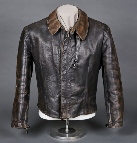 WWII German Luftwaffe Air Crew Leather Jacket