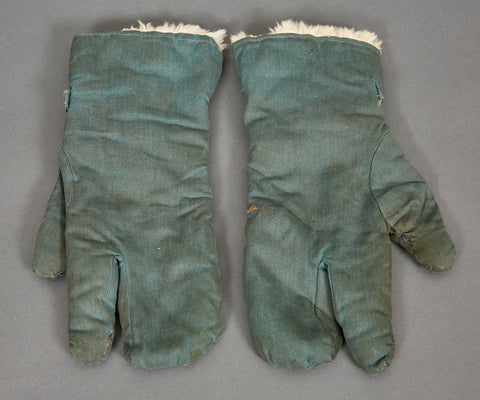 WWII German Winter Fur Gloves for Police Personnel