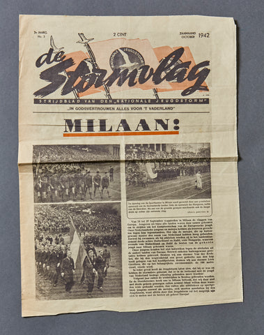 Dutch WWII National Socialist Party Newspaper