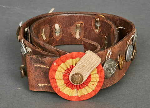"WWI German Gravedigger's ""Hate"" Belt"