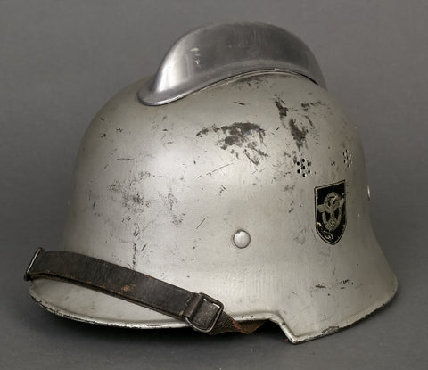 German Model 1934 Fire Police Civic Parade Helmet, Scarce