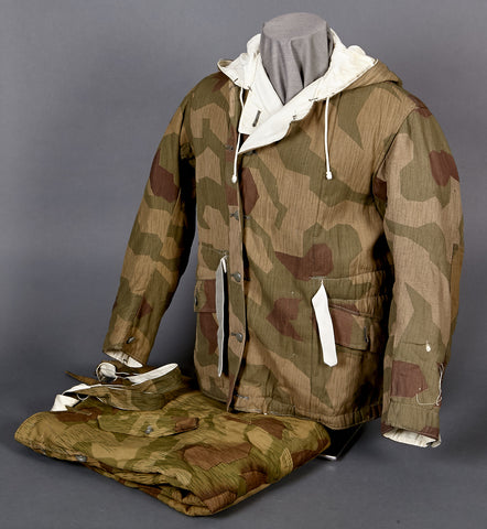 WWII German Wehrmacht Tan and Water Reversible Camouflage Jacket and Pants