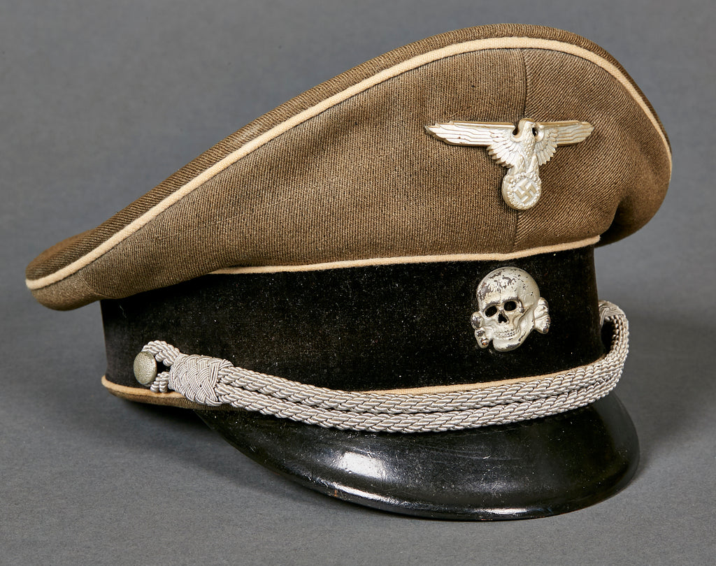 d9377d8a3fe WWII German Waffen SS Officer Visor Cap – The Ruptured Duck