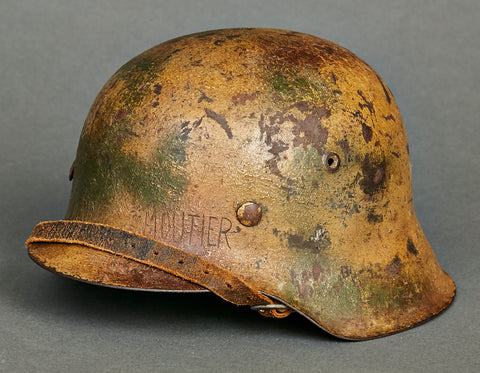WWII German Model 1942 Normandy Camo Helmet with Incredible Etching