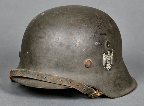 WWII German Model 1942 Army Single Decal Helmet, GI Personalized (Norway)