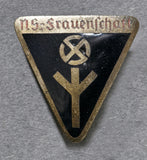 WWII German N.S. Frauenschaft Membership Pin, Small Painted Version