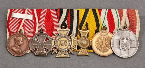 WWII German 6 Medal Bar