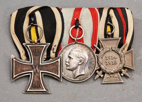 WWI German 3 Medal Bar