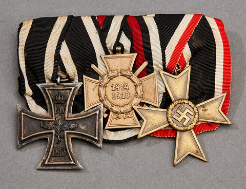 WWII German 3 Medal Bar
