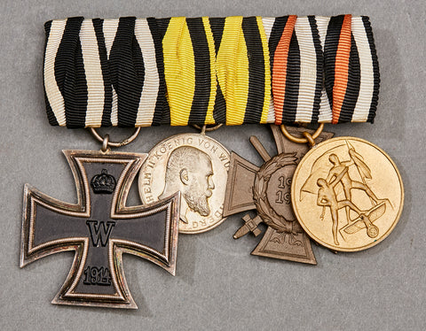 WWII German 3/4 Medal Bar