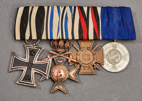 WWI German 4 Medal Bar
