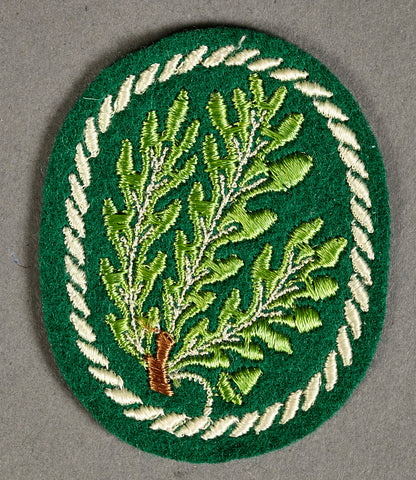 WWII German Machine Embroidered Sleeve Patch for Jäger Personnel