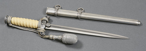 German WWII Army Officer's Dagger by F.W. Holler
