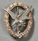WWII German Luftwaffe Radio Operator/Air Gunner Badge by Deumer