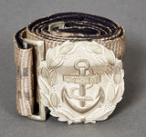 German WWII Navy Administrative Officer's Brocade Belt and Buckle