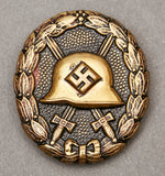 "WWII German Spanish Civil War ""Condor Legion"" Black Wound Badge"