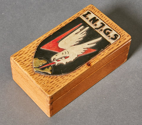 WWII German Luftwaffe Night Fighter Hand Carved Box
