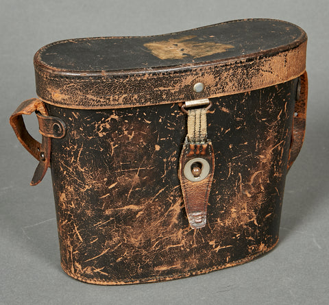 German WWII Vintage Leather Binocular Case