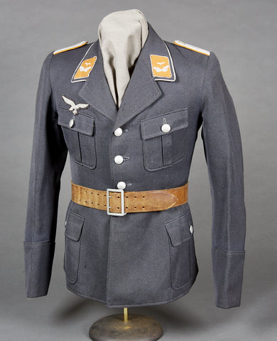 WWII German Luftwaffe Four Pocket Service Tunic for Signals Officer
