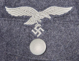 WWII German Luftwaffe Hermann Göring Division Artillery NCO Four Pocket Service Tunic