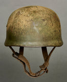 WWII German Model 1938 Luftwaffe Camouflage (FJR 6) Paratrooper Helmet