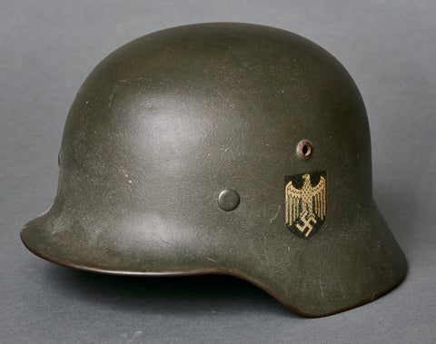 WWII German Model 1935 Army Single Decal Reissue Helmet