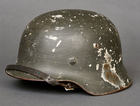 WWII German Model 1935 Army Camouflage Reissue Helmet