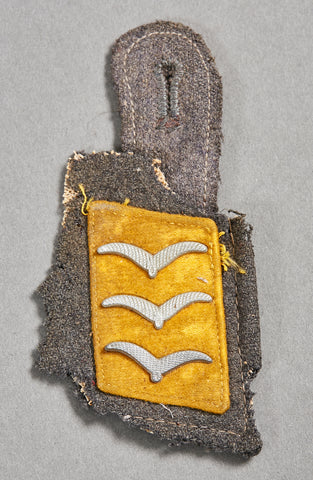 German WWII Luftwaffe Collar Tab and Part of Collar Cut Off Insignia