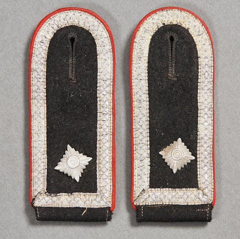 German WWII SS Shoulder Boards for Artillery NCO