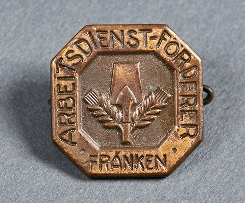 German NAZI Labor Korps Pinback for Franken