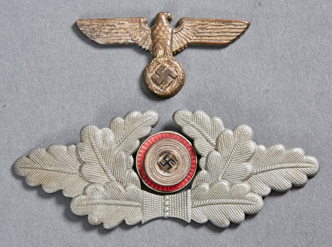 WWII German Political Leader Visor Cap Eagle, Wreath and Cockade