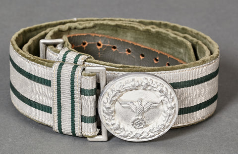 Forestry Officials Brocade Belt and Buckle