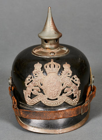WWI Pickelhaube for Bavarian Other Ranks Personnel