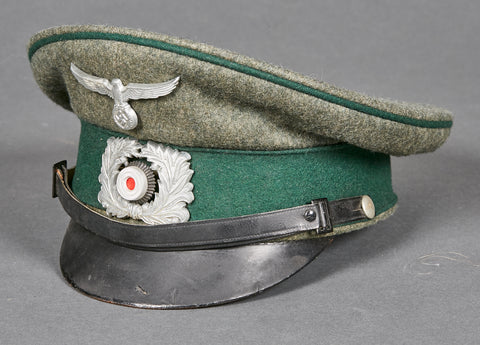 "German WWII Land Customs Visor Cap for ""Other Ranks"" Personnel"