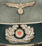 WWII German Army Other Ranks Visor Cap, Named