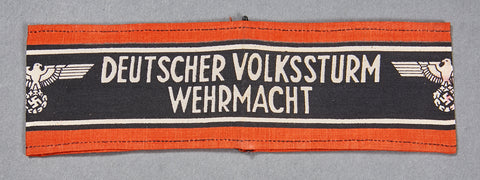 German WWII NAZI Armband for Volkstrum Members