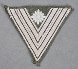 German Army WWII Sleeve Chevron for Corporal with More Than 6 Years In Service