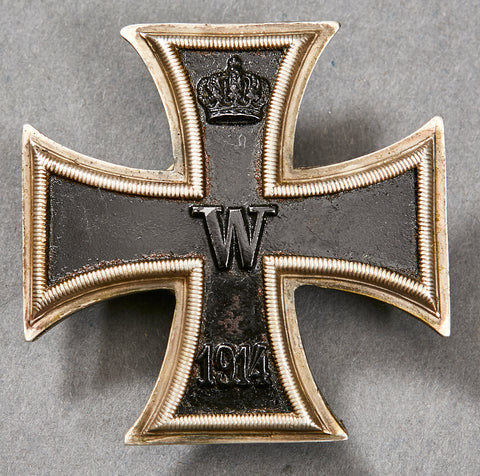 WWI German Iron Cross 1st Class, Screw Back, by Paul Meybauer Berlin