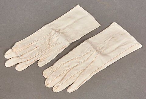 WWII German Officer's White Leather Gloves