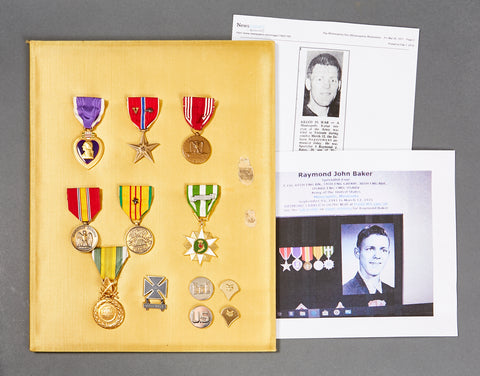 US Vietnam War Purple Heart KIA Medal Grouping