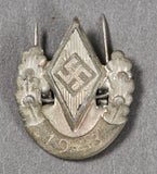 Third Reich Hitler Youth Pin Back